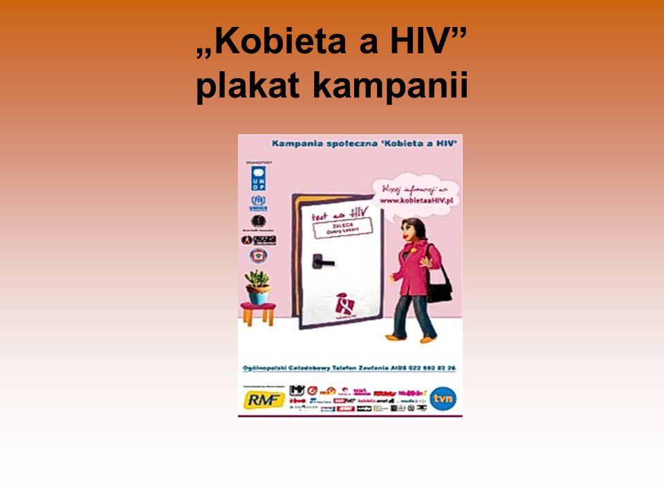 """Kobieta a HIV"" plakat kampanii"