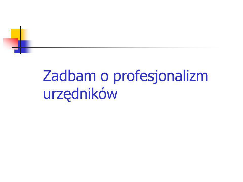 Zadbam o profesjonalizm urzędników