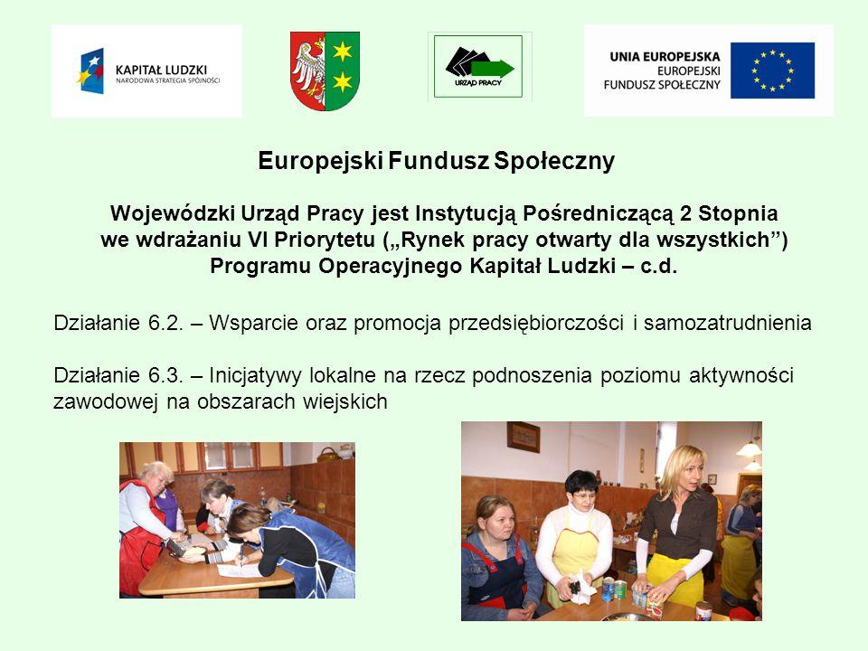 Europejski Fundusz Społeczny Działanie 6.2.