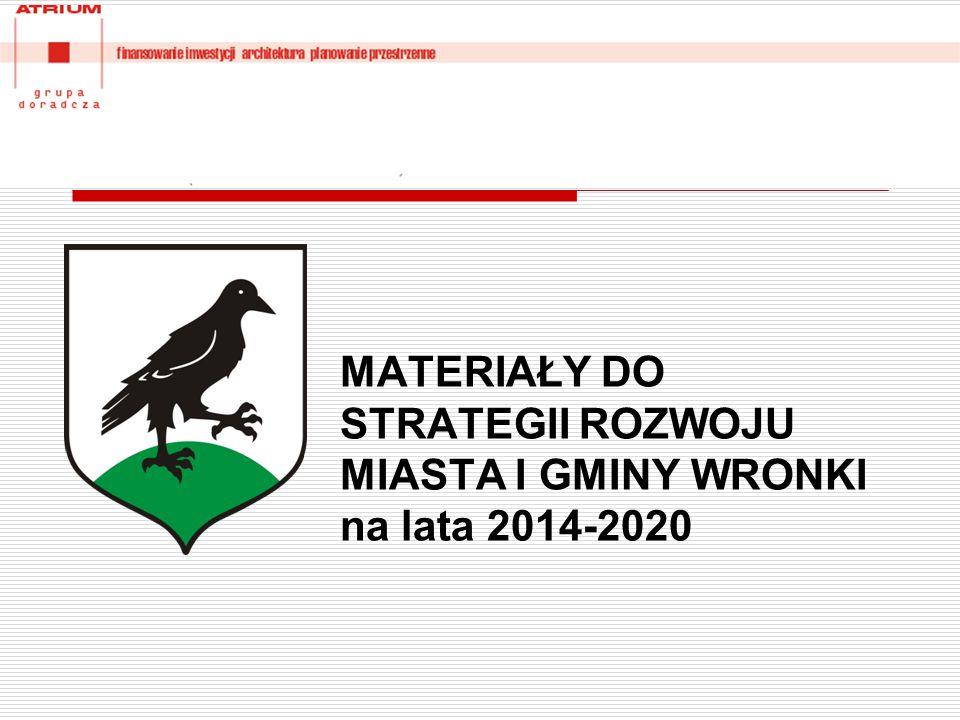 MATERIAŁY DO STRATEGII ROZWOJU MIASTA I GMINY WRONKI na lata 2014-2020