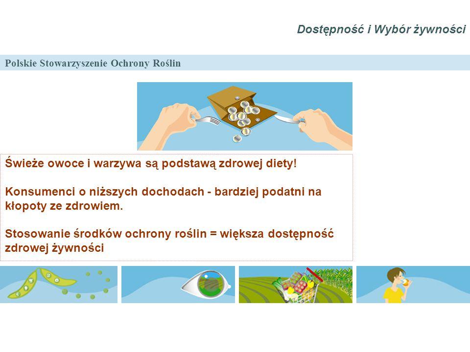 Polskie Stowarzyszenie Ochrony Roślin Świeże owoce i warzywa są podstawą zdrowej diety! Konsumenci o niższych dochodach - bardziej podatni na kłopoty