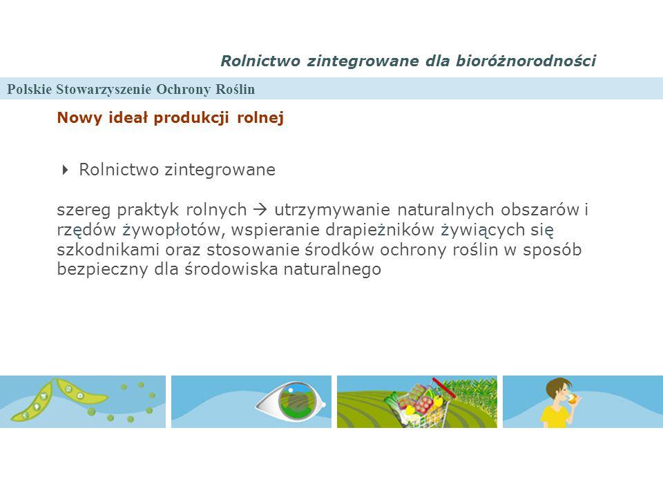Polskie Stowarzyszenie Ochrony Roślin Rolnictwo zintegrowane dla bioróżnorodności Nowy ideał produkcji rolnej  Rolnictwo zintegrowane szereg praktyk