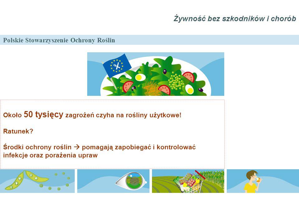 Polskie Stowarzyszenie Ochrony Roślin Żywność bez szkodników i chorób Około 50 tysięcy zagrożeń czyha na rośliny użytkowe! Ratunek? Środki ochrony roś