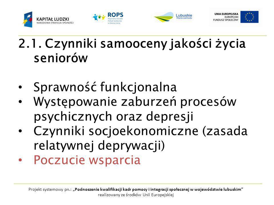 """Projekt systemowy pn.: """"Podnoszenie kwalifikacji kadr pomocy i integracji społecznej w województwie lubuskim realizowany ze środków Unii Europejskiej 2.1."""