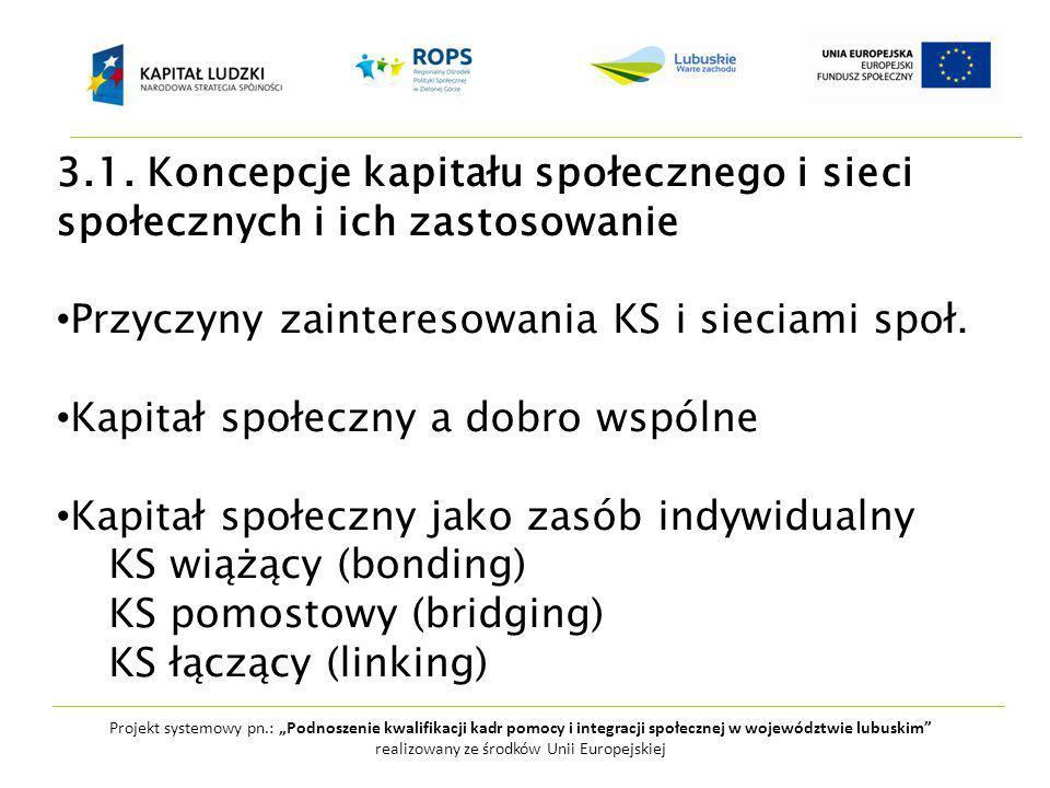 """Projekt systemowy pn.: """"Podnoszenie kwalifikacji kadr pomocy i integracji społecznej w województwie lubuskim realizowany ze środków Unii Europejskiej 3.1."""