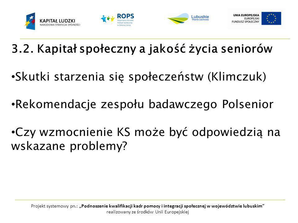 """Projekt systemowy pn.: """"Podnoszenie kwalifikacji kadr pomocy i integracji społecznej w województwie lubuskim realizowany ze środków Unii Europejskiej 3.2."""