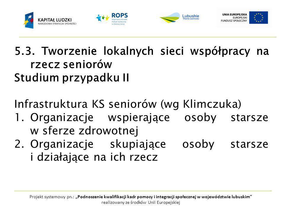 """Projekt systemowy pn.: """"Podnoszenie kwalifikacji kadr pomocy i integracji społecznej w województwie lubuskim realizowany ze środków Unii Europejskiej 5.3."""