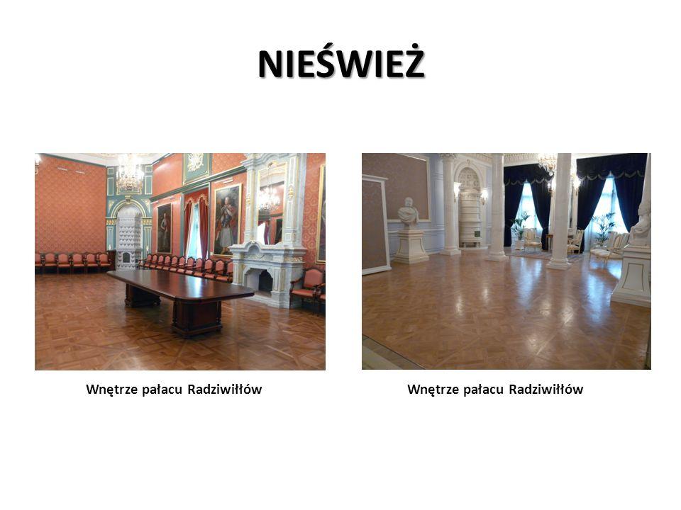 NIEŚWIEŻ Wnętrze pałacu Radziwiłłów Wnętrze pałacu Radziwiłłów
