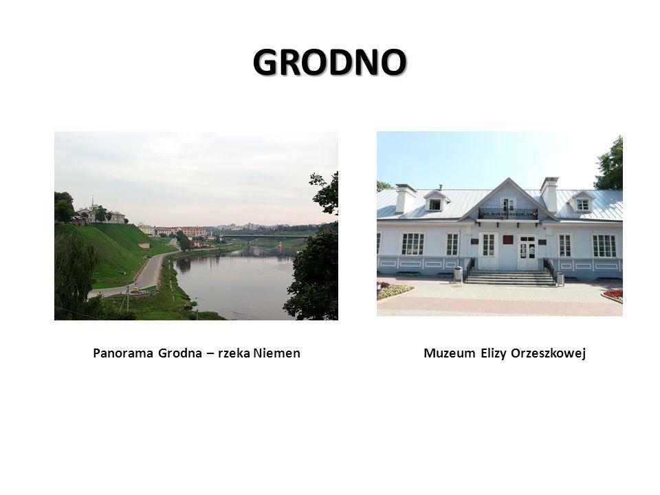 GRODNO Panorama Grodna – rzeka Niemen Muzeum Elizy Orzeszkowej
