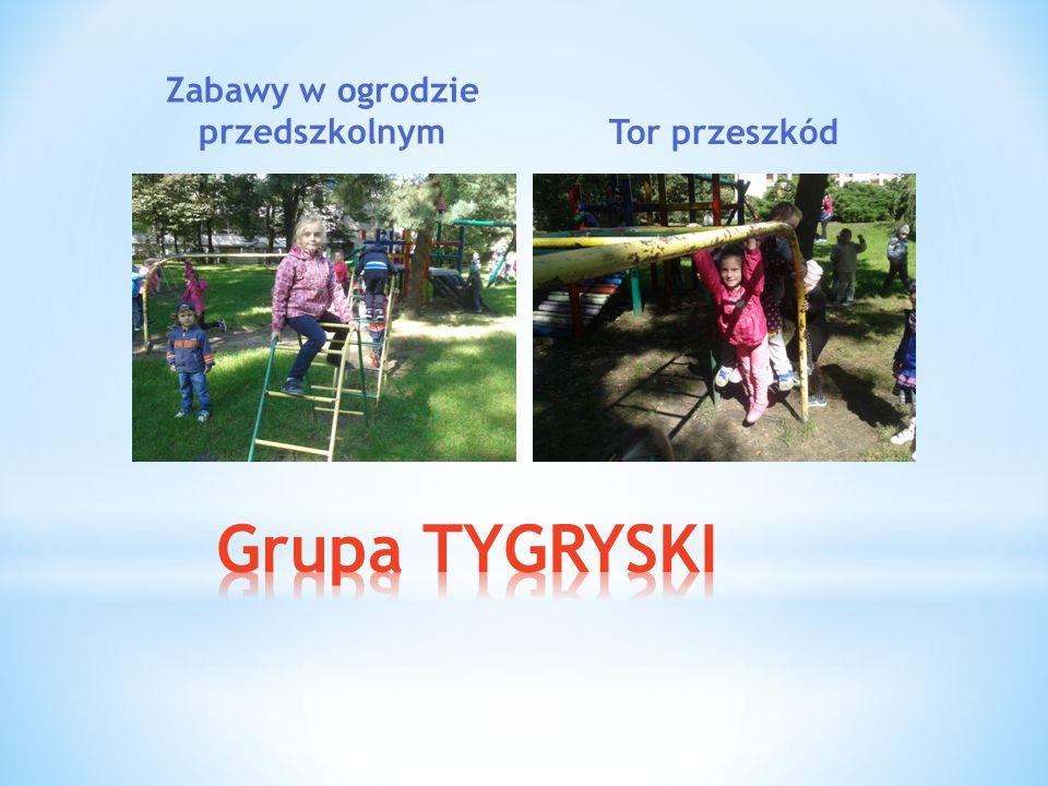 Zabawy w ogrodzie przedszkolnymTor przeszkód