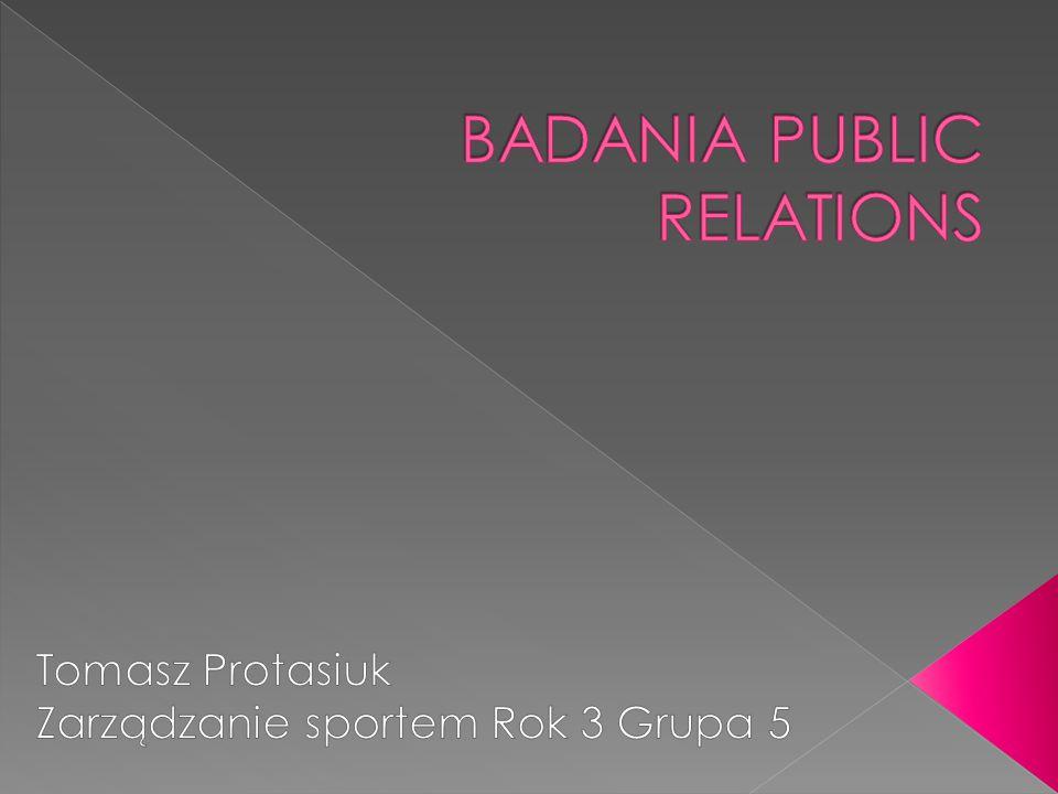  Niniejsza praca przedstawia zagadnienie badania public relations.