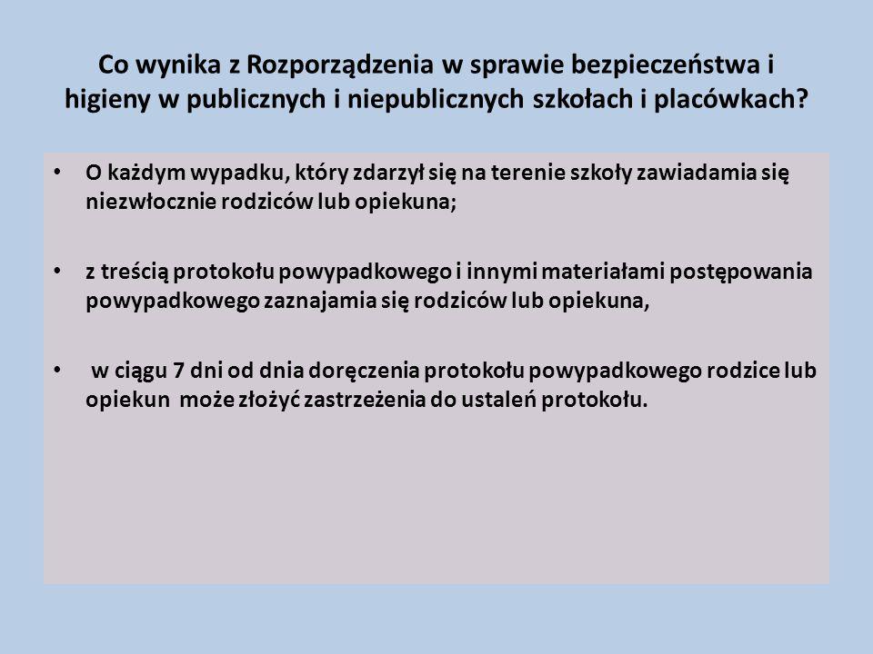 Co wynika z Rozporządzenia w sprawie bezpieczeństwa i higieny w publicznych i niepublicznych szkołach i placówkach.