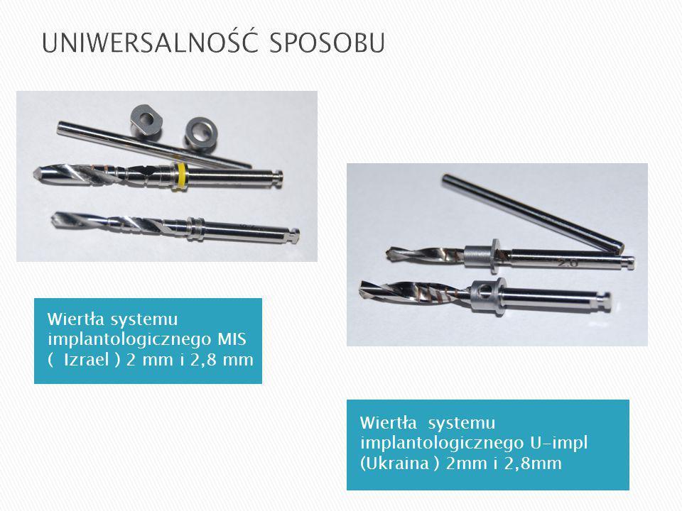 Wiertła systemu implantologicznego MIS ( Izrael ) 2 mm i 2,8 mm Wiertła systemu implantologicznego U-impl (Ukraina ) 2mm i 2,8mm