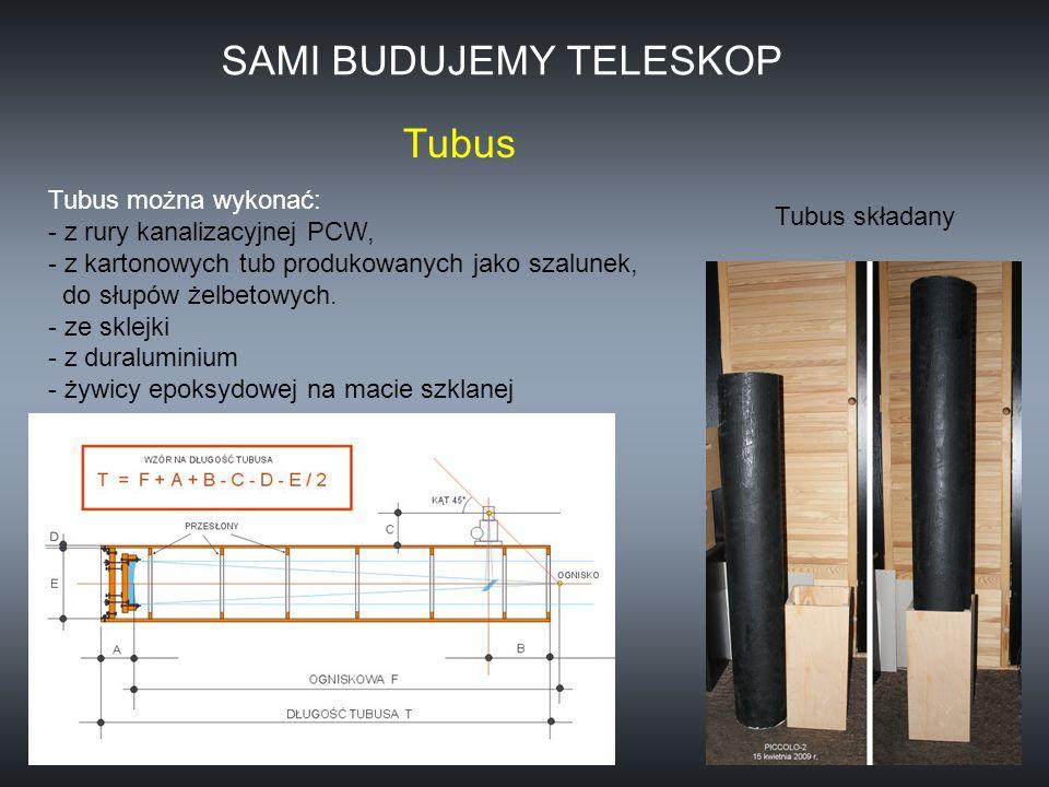 Tubus można wykonać: - z rury kanalizacyjnej PCW, - z kartonowych tub produkowanych jako szalunek, do słupów żelbetowych. - ze sklejki - z duraluminiu