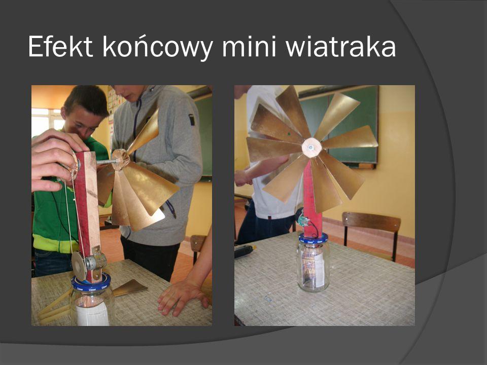 Efekt końcowy mini wiatraka