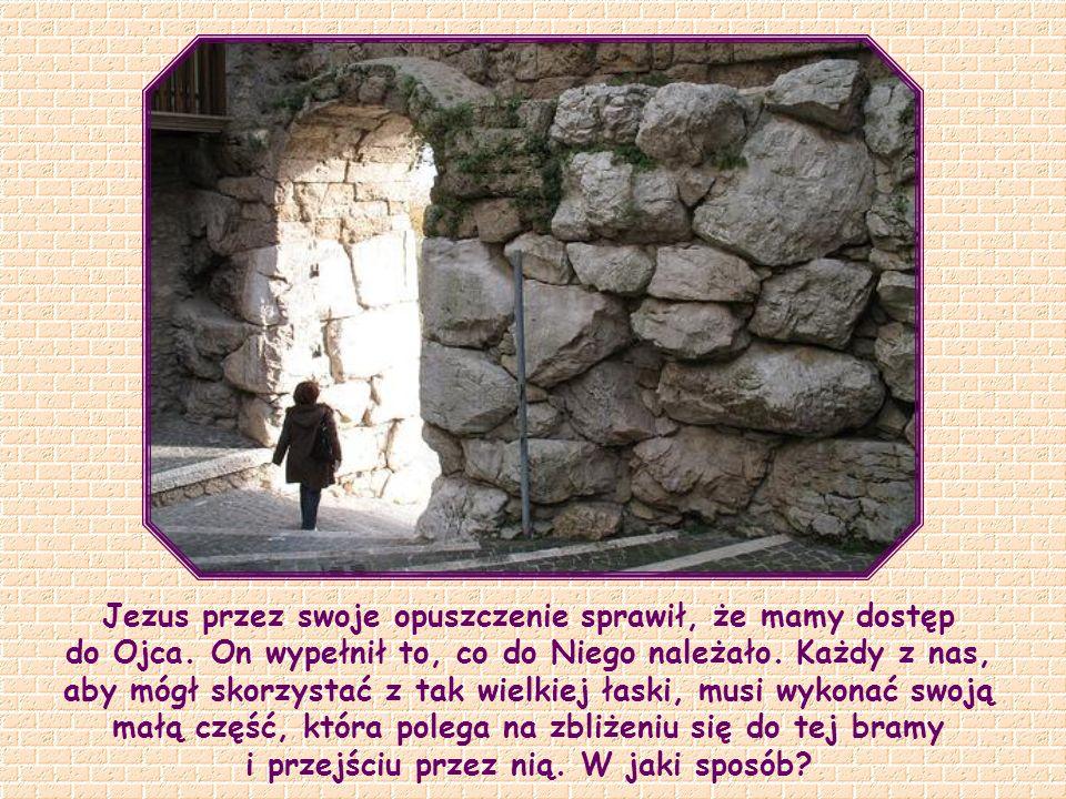 """""""Ja jestem bramą. Jeżeli ktoś wejdzie przeze Mnie, będzie zbawiony – wejdzie i wyjdzie, i znajdzie pastwisko"""" (J 10,9)."""