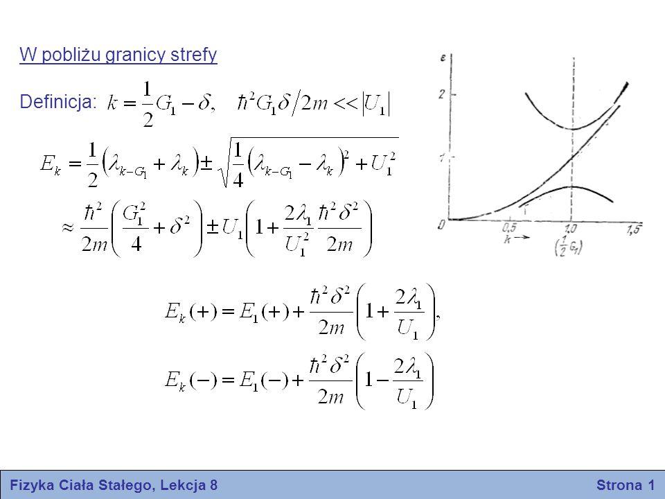 Fizyka Ciała Stałego, Lekcja 8 Strona 12 KRYSZTAŁY PÓŁPRZEWODNIKOWE koncentracja elektronów puste pasmo przewodnictwa wypełnione pasmo walencyjne pasmo wzbronione Przewodnictwo samoistne Bardzo czysty półprzewodnik wykazuje, w temperaturach niezbyt niskich, przewodnictwo samoistne w odróżnieniu od przewodnictwa domieszkowego, które występuje w mniej oczyszczonych próbkach