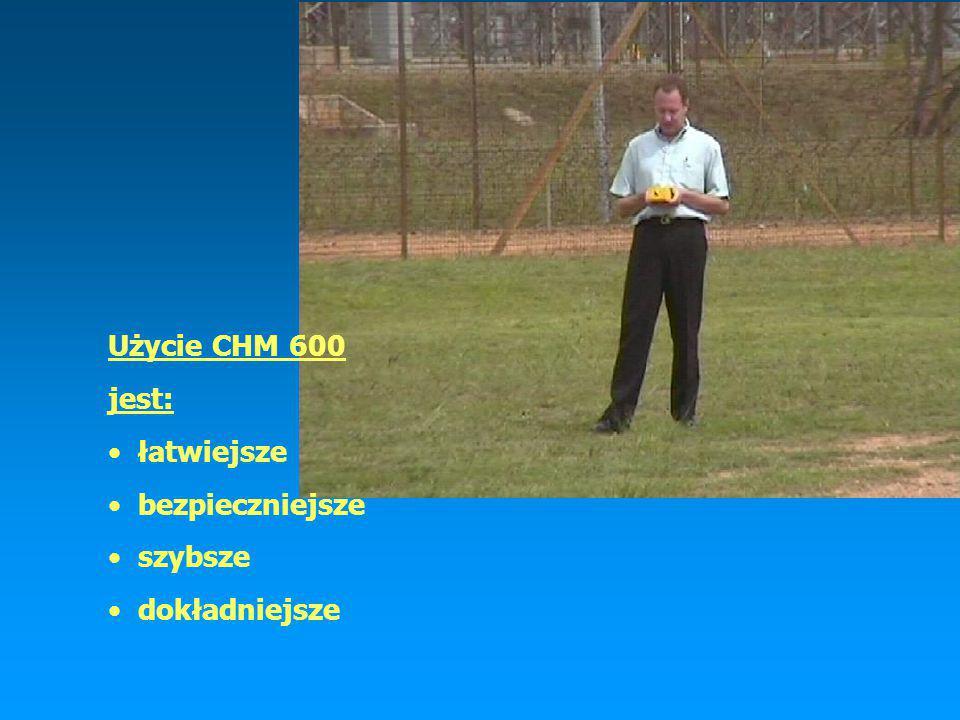 Użycie CHM 600 jest: łatwiejsze bezpieczniejsze szybsze dokładniejsze