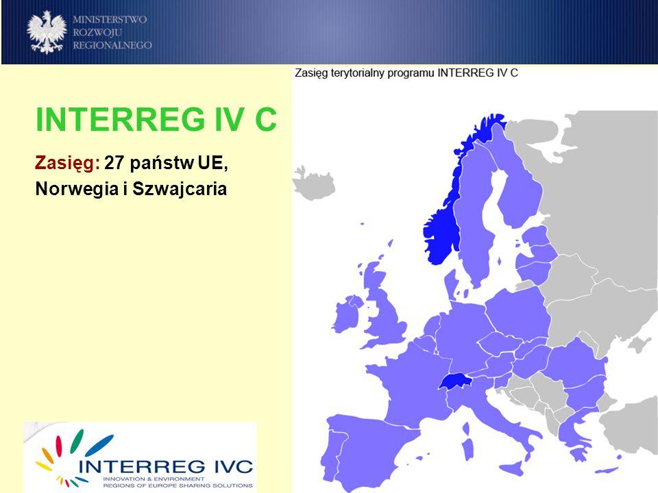 budżet: 321 mln euro EFRR współfinansowanie: do 75% / 85% 1 IZ, IA, IC (Lille/Paryż) 1 Komitet Monitorujący 1 WST (Lille), 4 Punkty Informacyjne (Katowice, Rostock, Walencja, Lille) Krajowe Punkty Kontaktowe