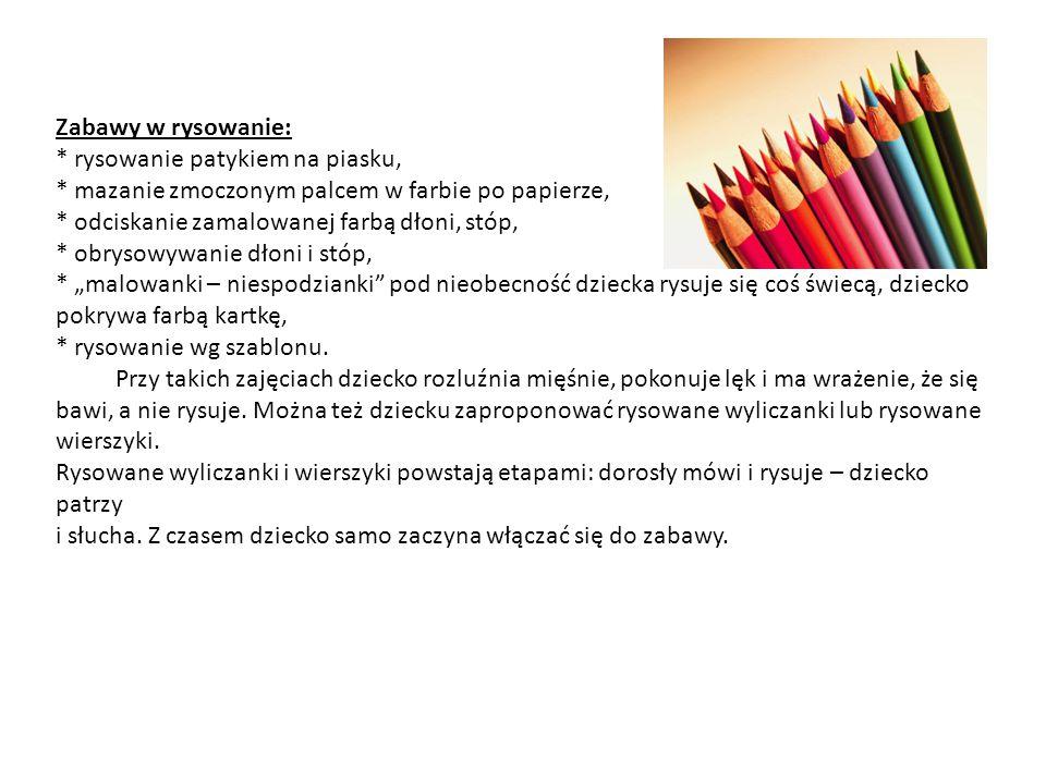 Ćwiczenia kształtujące prawidłowy uchwyt i regulujące napięcie mięśniowe rąk: Naukę pisania i rysowania należy zacząć od prawidłowego trzymania ołówka, czy kredki.