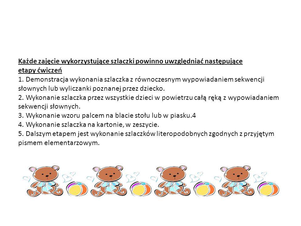 Ćwiczenia grafomotoryczne.