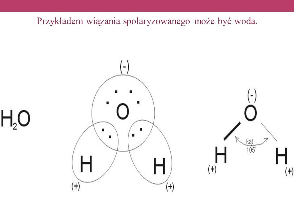 Przykładem wiązania spolaryzowanego może być woda.