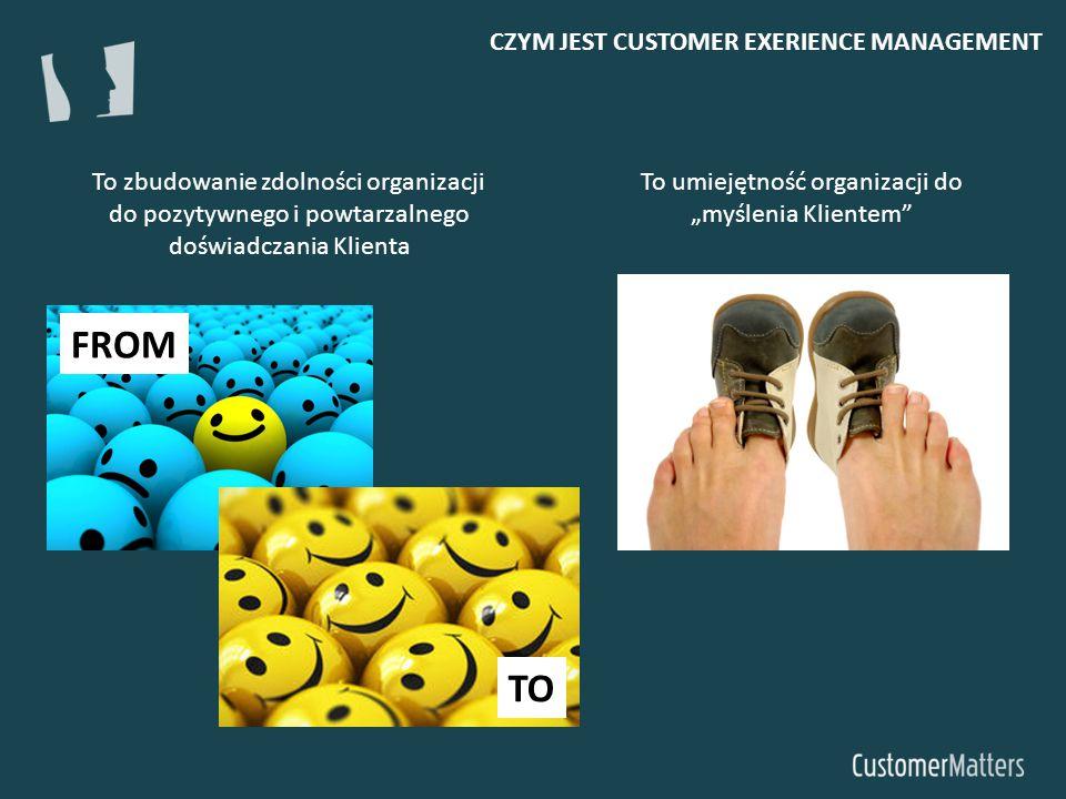 """CZYM JEST CUSTOMER EXERIENCE MANAGEMENT To umiejętność organizacji do """"myślenia Klientem"""" To zbudowanie zdolności organizacji do pozytywnego i powtarz"""