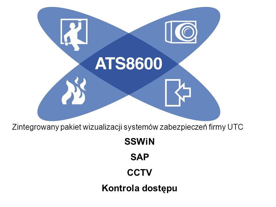 Zintegrowany pakiet wizualizacji systemów zabezpieczeń firmy UTC SSWiN SAP CCTV Kontrola dostępu