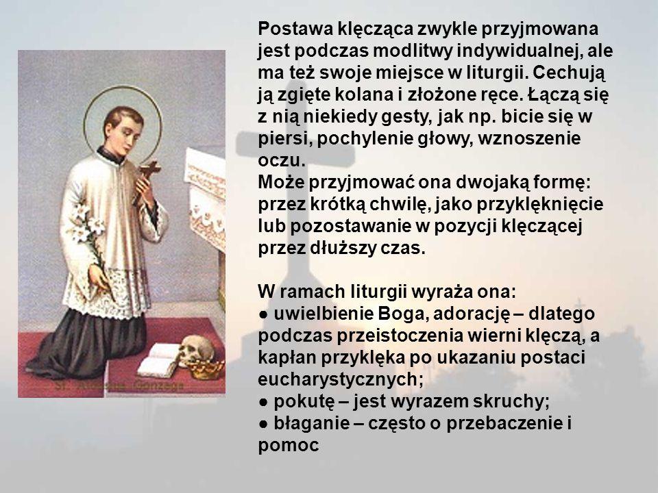 Postawa siedzącą Postawa siedząca według starożytnego zwyczaju przysługiwała urzędnikom, nauczycielom i sędziom jako znak władzy i godności (Ps 106,32; Mt 19,28; Łk 4,20).
