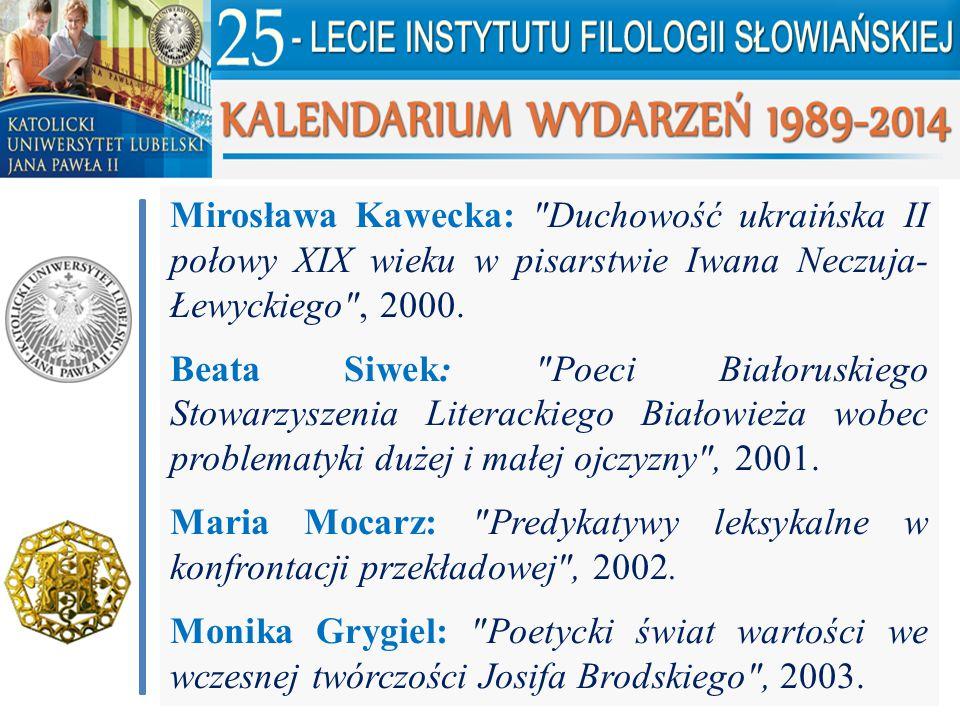 Mirosława Kawecka: