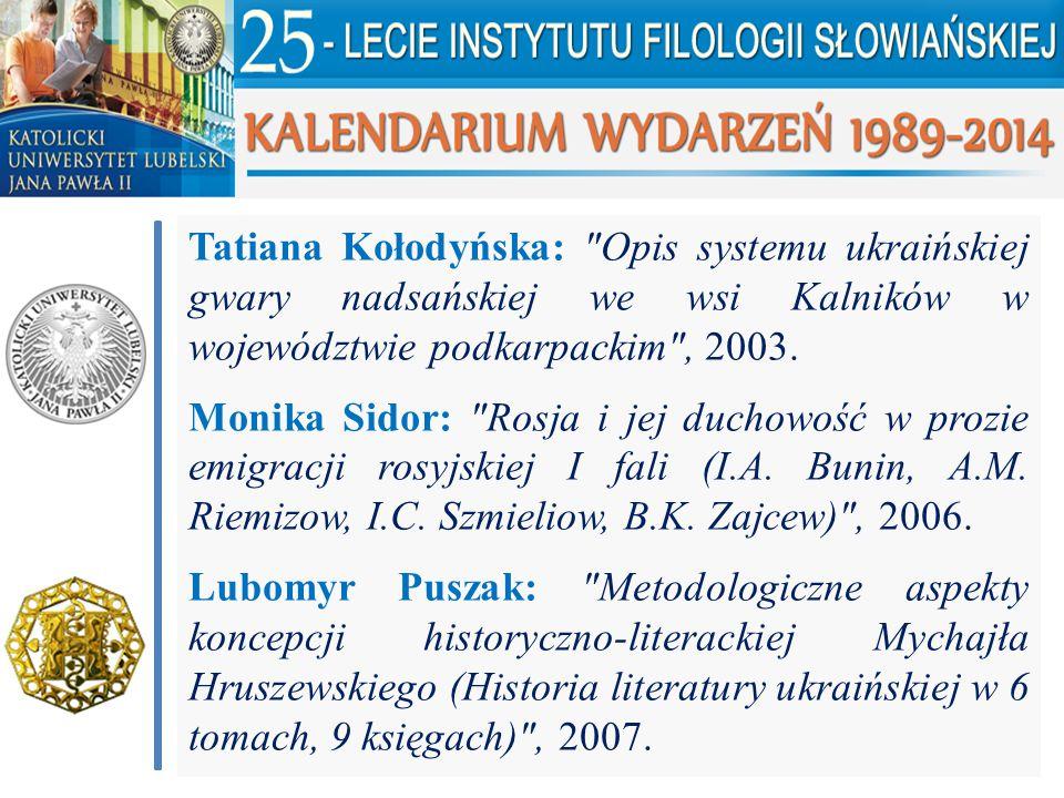 Tatiana Kołodyńska: