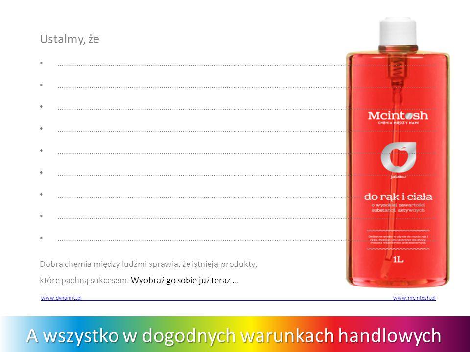 Solidny biznes z wartościową marką Dobra chemia między ludźmi sprawia, że istnieją produkty, które pachną sukcesem.