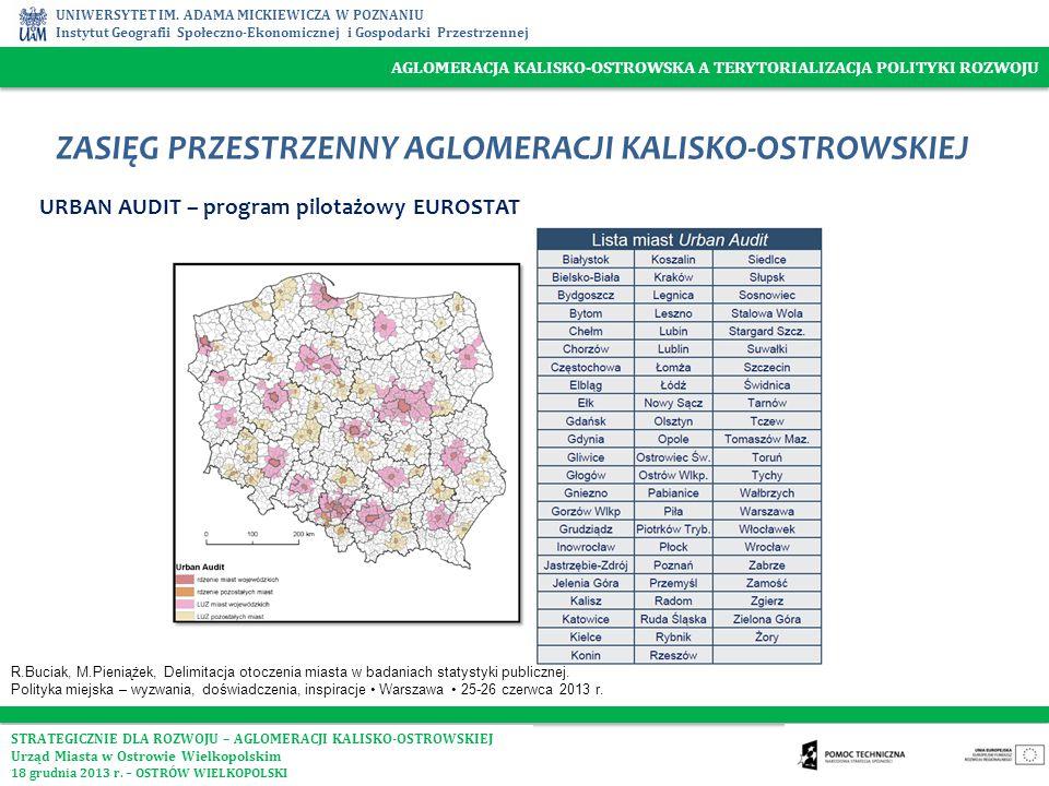 AGLOMERACJA KALISKO-OSTROWSKA A TERYTORIALIZACJA POLITYKI ROZWOJU UNIWERSYTET IM. ADAMA MICKIEWICZA W POZNANIU Instytut Geografii Społeczno-Ekonomiczn