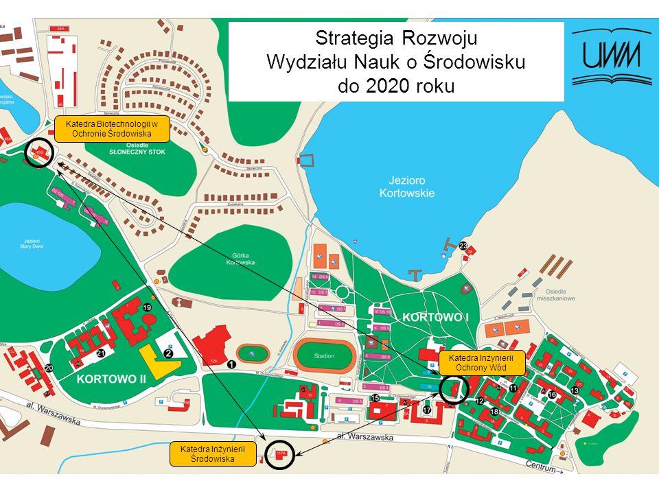 Katedra Inżynierii Ochrony Wód Katedra Inżynierii Środowiska Katedra Biotechnologii w Ochronie Środowiska Strategia Rozwoju Wydziału Nauk o Środowisku do 2020 roku