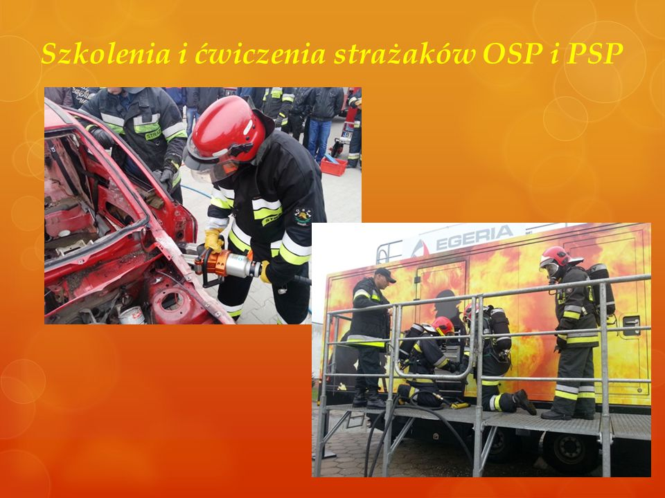 Szkolenia i ćwiczenia strażaków OSP i PSP