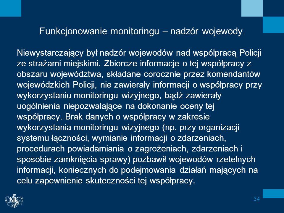 Funkcjonowanie monitoringu – nadzór wojewody.