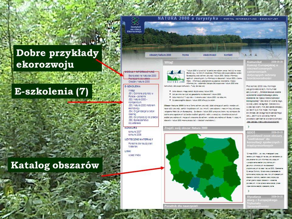 E-szkolenia (7) Katalog obszarów Dobre przykłady ekorozwoju