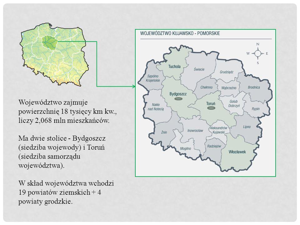 Województwo zajmuje powierzchnię 18 tysięcy km kw., liczy 2,068 mln mieszkańców.