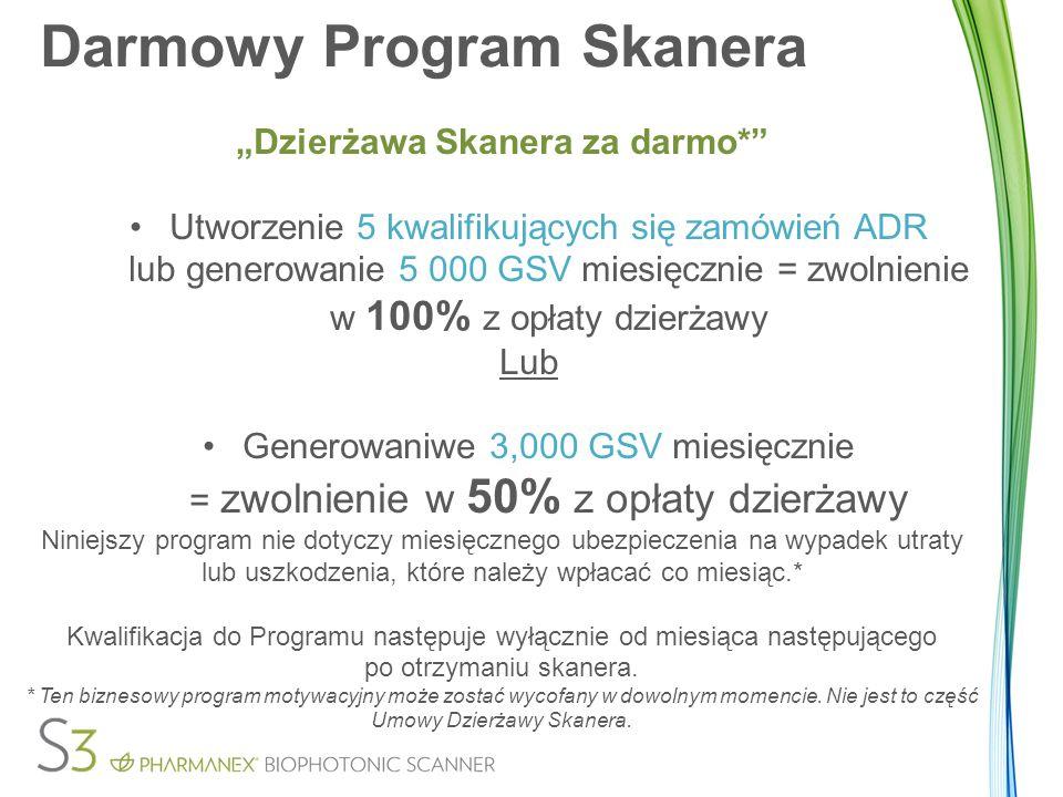 """Darmowy Program Skanera """"Dzierżawa Skanera za darmo*"""" Utworzenie 5 kwalifikujących się zamówień ADR lub generowanie 5 000 GSV miesięcznie = zwolnienie"""