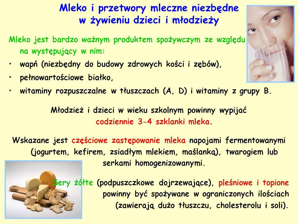 Mleko jest bardzo ważnym produktem spożywczym ze względu na występujący w nim: wapń (niezbędny do budowy zdrowych kości i zębów), pełnowartościowe bia