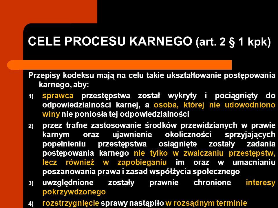 CELE PROCESU KARNEGO (art.