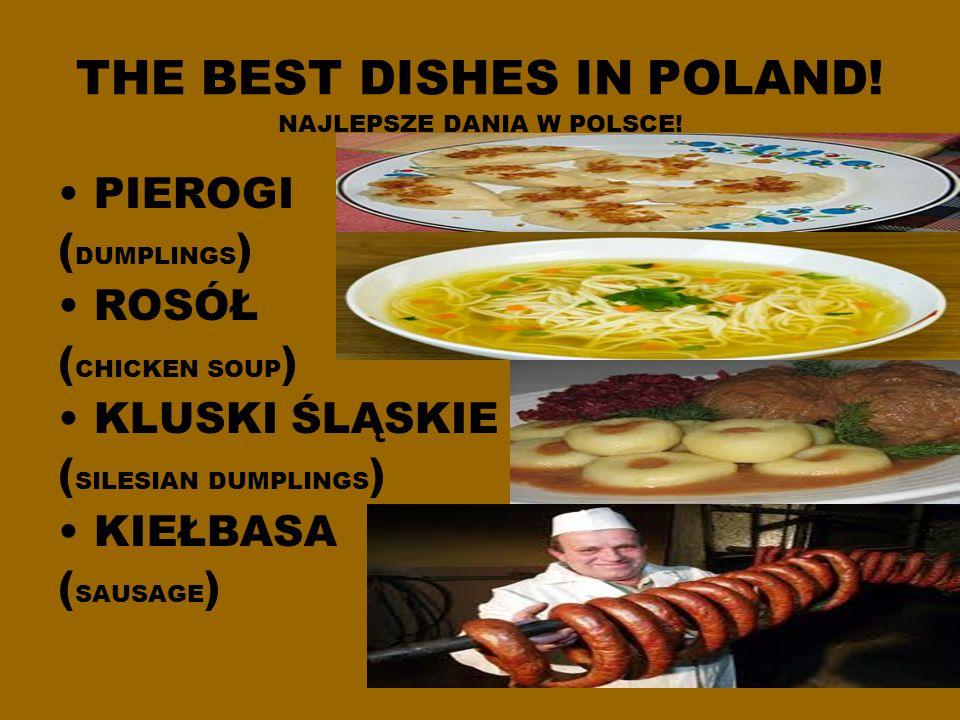 THE BEST DISHES IN POLAND.NAJLEPSZE DANIA W POLSCE.