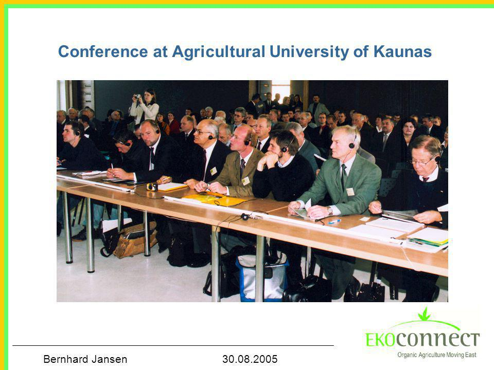 Conference at Agricultural University of Kaunas