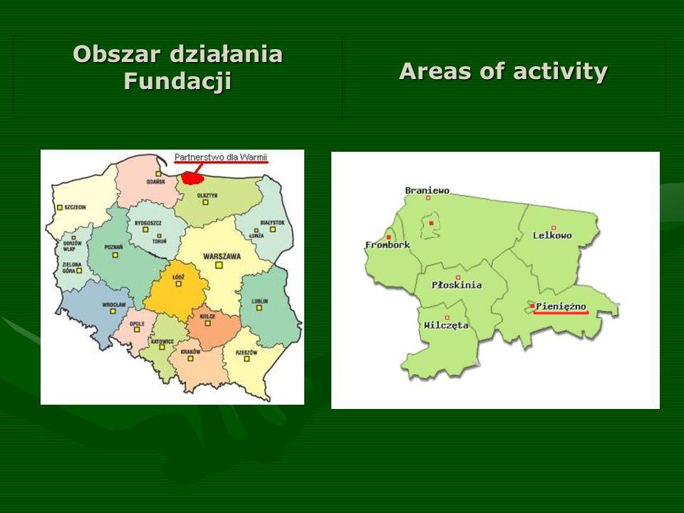 Areas of activity Obszar działania Fundacji