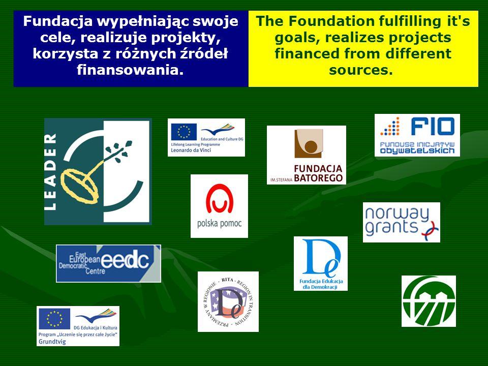 Fundacja wypełniając swoje cele, realizuje projekty, korzysta z różnych źródeł finansowania.