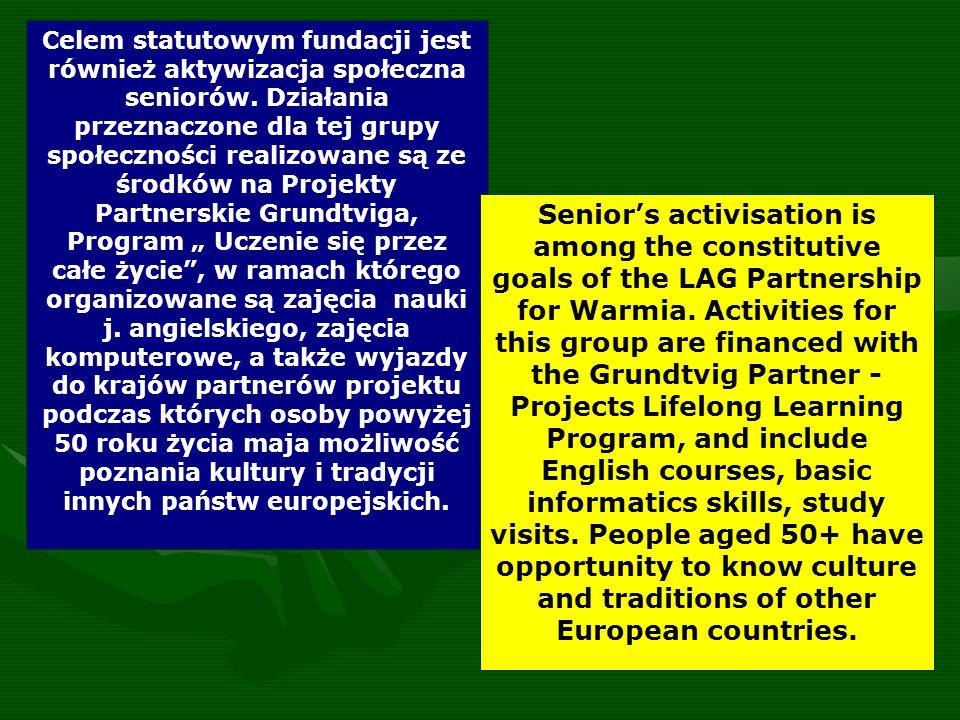 Celem statutowym fundacji jest również aktywizacja społeczna seniorów.
