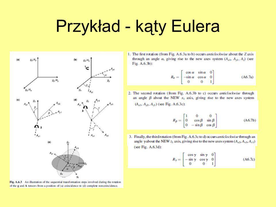 Przykład - kąty Eulera