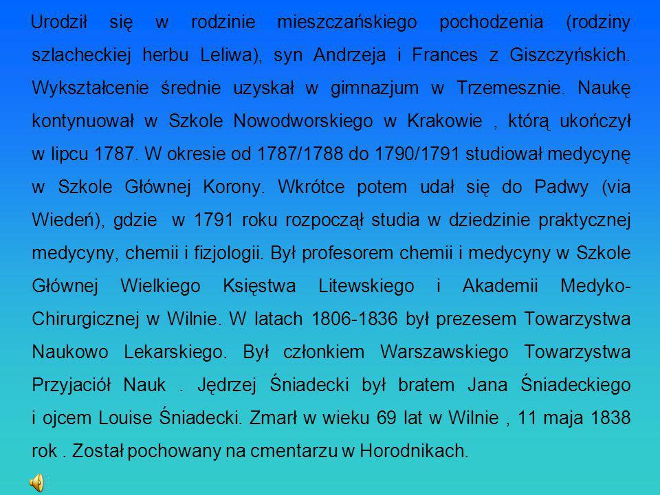 Urodził się w rodzinie mieszczańskiego pochodzenia (rodziny szlacheckiej herbu Leliwa), syn Andrzeja i Frances z Giszczyńskich. Wykształcenie średnie