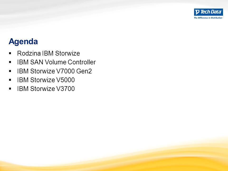 Agenda  Rodzina IBM Storwize  IBM SAN Volume Controller  IBM Storwize V7000 Gen2  IBM Storwize V5000  IBM Storwize V3700