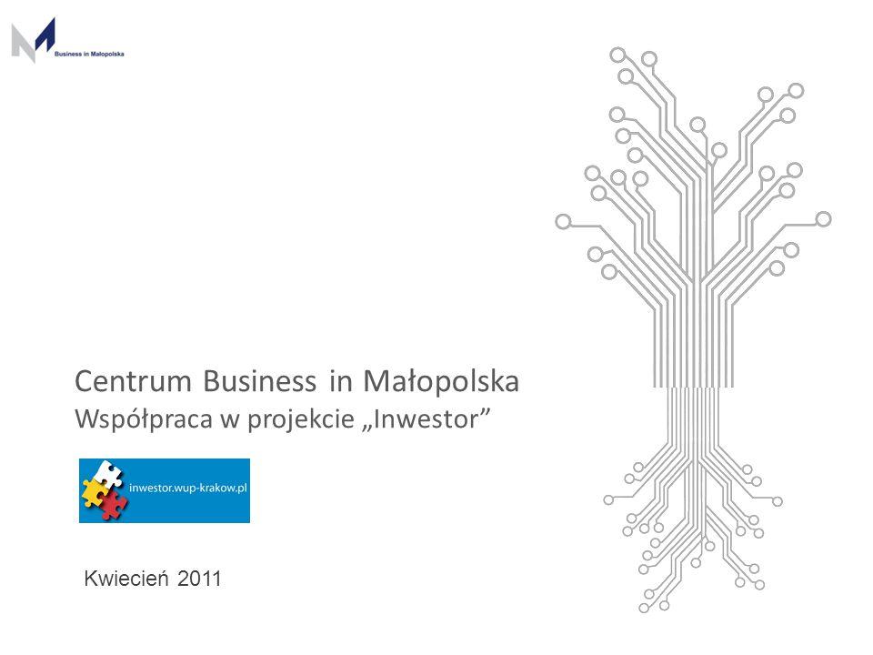 """www.businessinmalopolska.com Centrum Business in Małopolska Współpraca w projekcie """"Inwestor"""" Kwiecień 2011"""